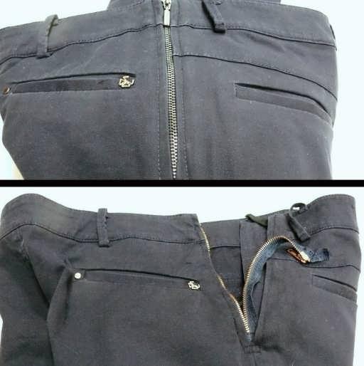 замена молнии на брюках фото