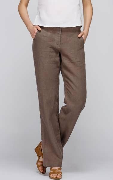 Женские брюки из льна фото