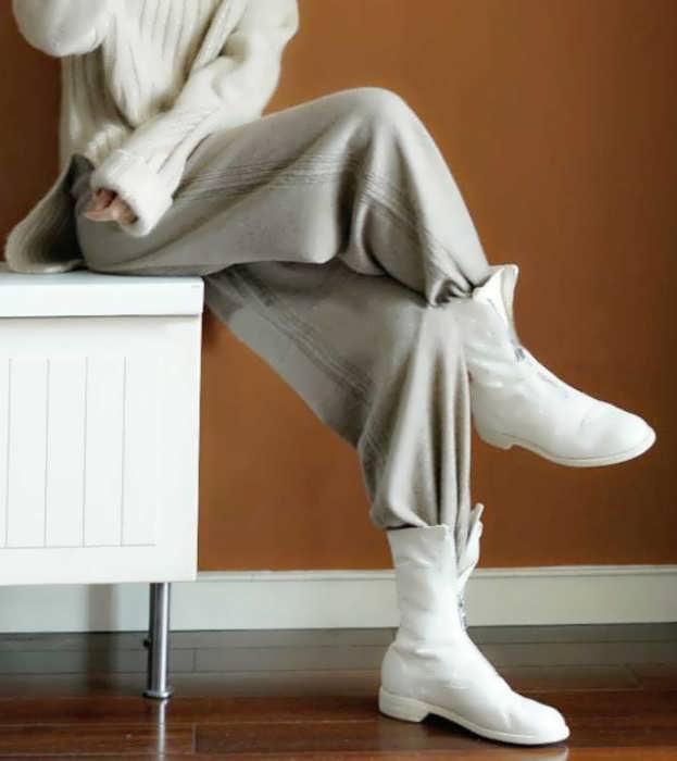 Женские брюки из трикотажа фото