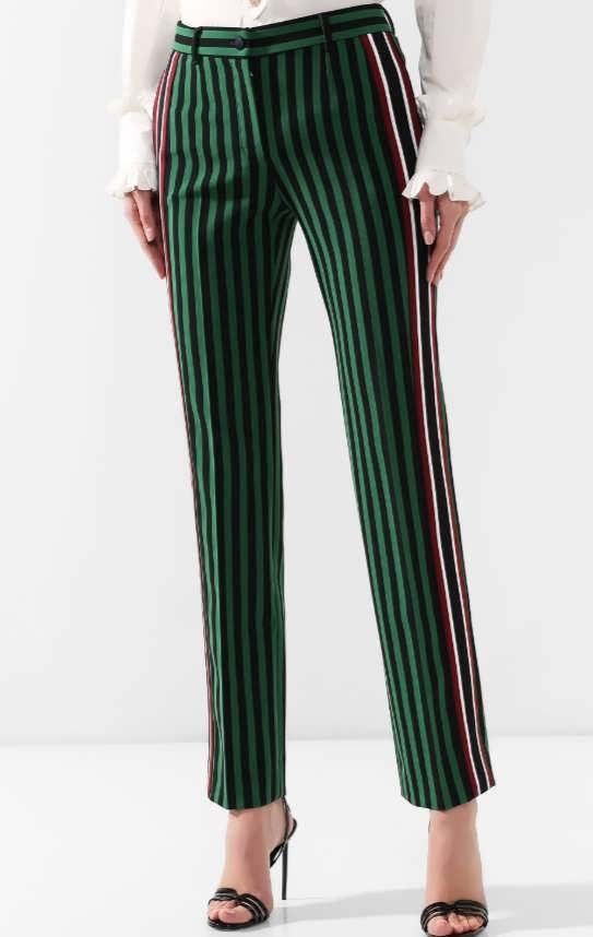 Женские брюки в полоску фото