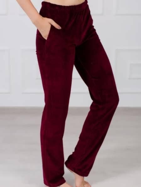 Женские брюки из велюра фото