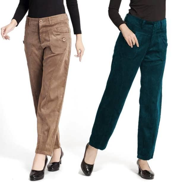 Женские брюки из вельвета фото