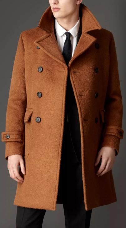 Пальто мужское из альпака фото