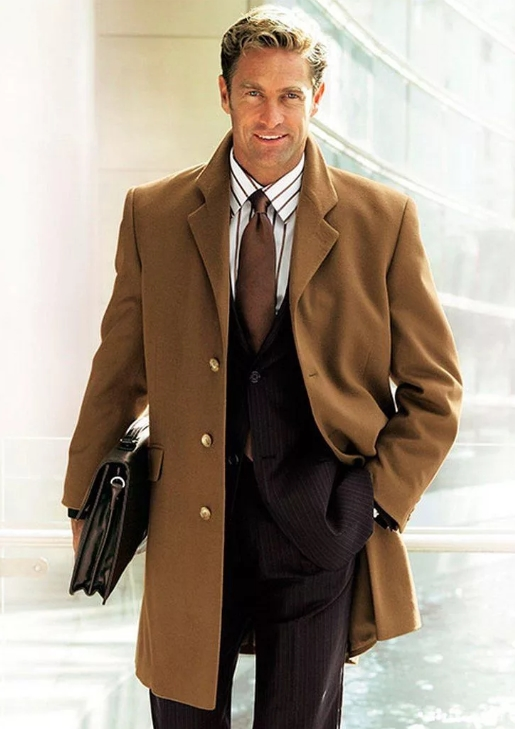 Пальто мужское классическое фото