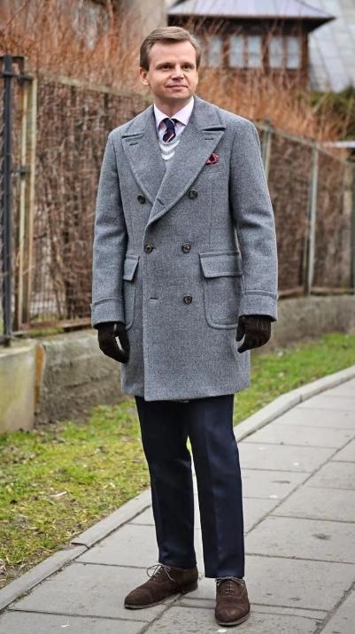 Пальто мужское ольстер фото