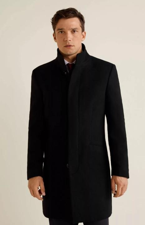 Пальто мужское с воротником стойка фото