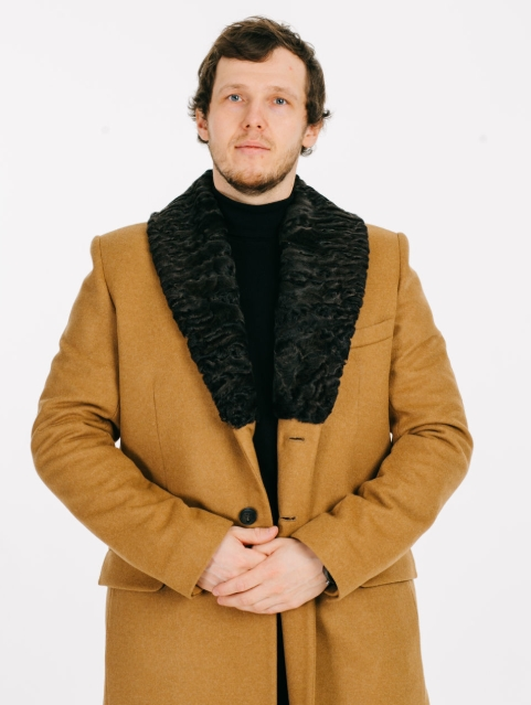 Пальто мужское с шалевым воротником фото