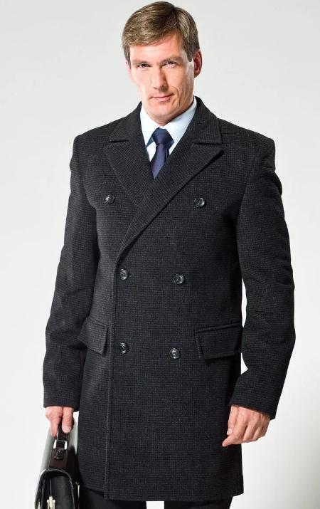 Пальто мужское с классическим воротником фото