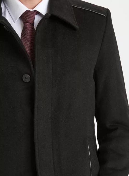 Пальто мужское с рубашечным воротником фото