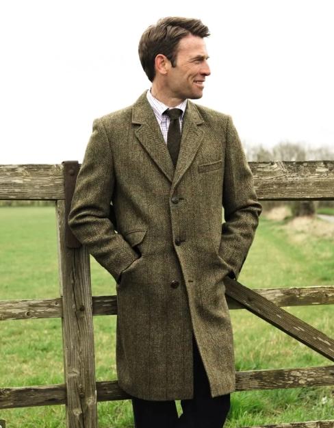 Пальто мужское из твида фото