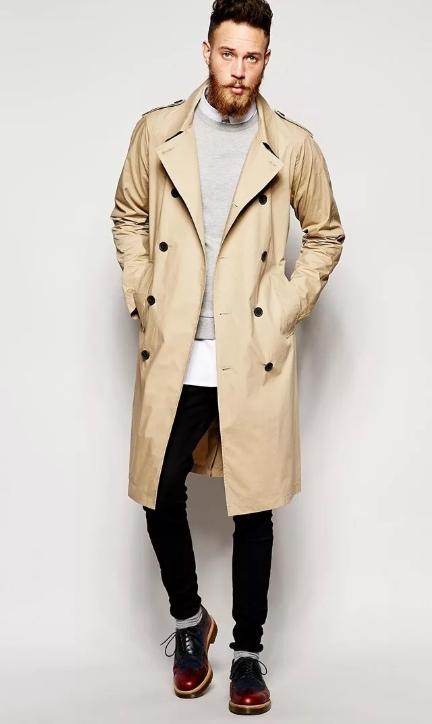 Пальто мужское тренч фото